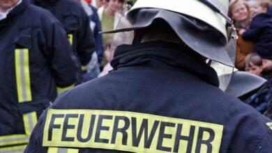 Bild von Lütjenburg: Feuer in Lackierwerkstatt – Großeinsatz der Feuerwehr