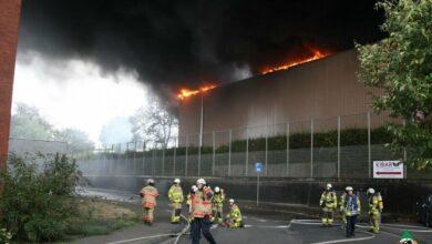 Bild von Aachen: Großbrand in einer Recyclingfirma an der Philipsstraße