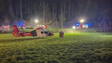 Bild von Lennestadt: Verkehrsunfall mit einer eingeklemmten Person