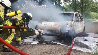 Bild von Rheurdt: PKW-Brand auf Waldweg